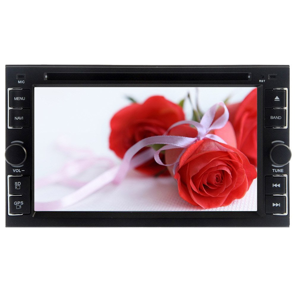 Double Din Car Stereo Head Unit 6.2 Inch TFT Touch Screen Bluetooth Steering Wheel Control USB IPod RDS AM FM Radio iPod Media