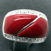 Hot Sell Noble FREE SHIPPING Wholesale Price 16new Vintage Style 24X16mm Red Carved Lacquer