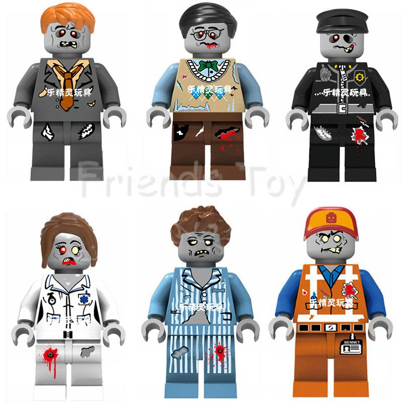 Image 2 - ZOMBIE WORLD Emmet Sleepyhead Nurse Walking Dead Figure Building Bricks Toys Compatible With Lego Movie Block-in Blocks from Toys & Hobbies