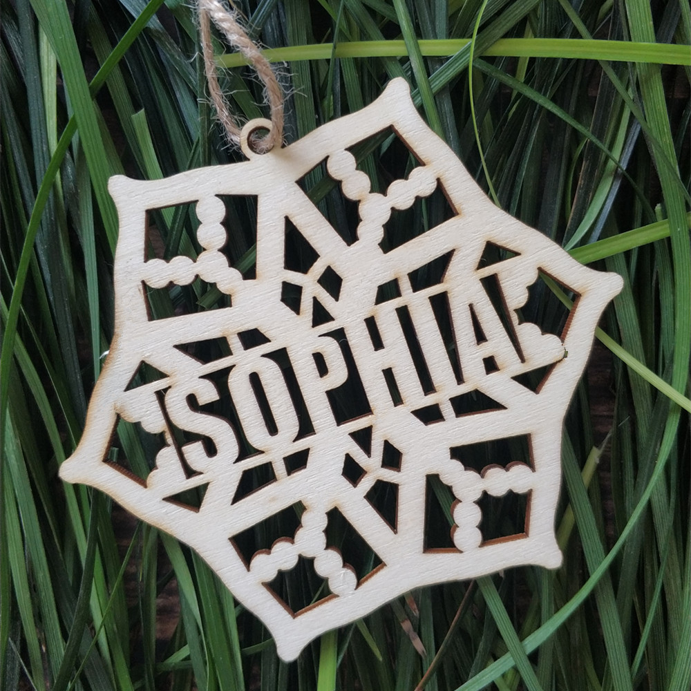 10pcs Personalized Custom Different Names Wood Snowflake ...