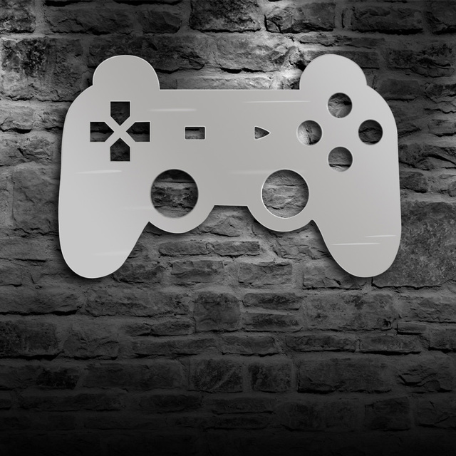 Gamepad Controller Wall Mirror With LED Backlight Joystick Game Decorative Mirror Video Game Retro Arcade Home Decor Gamers Gift 4