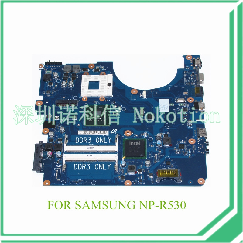 все цены на NOKOTION BA41-01223A BA92-06337A BA92-06337B For samsung NP-R530 R530 laptop motherboard DDR3 GM45 онлайн