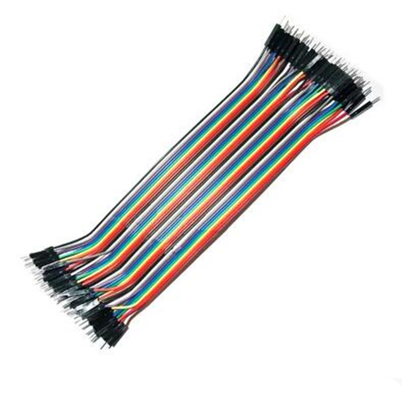40pcs in Row Dupont Cable 20cm 2.54mm 1pin 1p-1p Male to Male jumper wire 1000pcs dupont jumper wire cable housing female pin contor terminal 2 54mm new