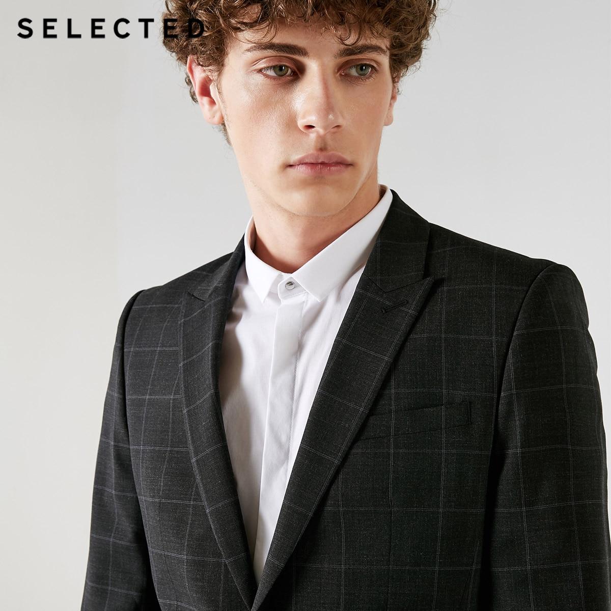 SELECTED Blackrock's New Men Containing Plaid Business Suit Blazer Bussiness Clothes T | 41835Y501