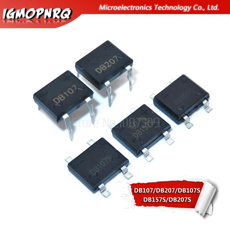 100 PCS DB107S SOP-4 DB107 SMD 1000V 1A BRIDGE RECTIFIER
