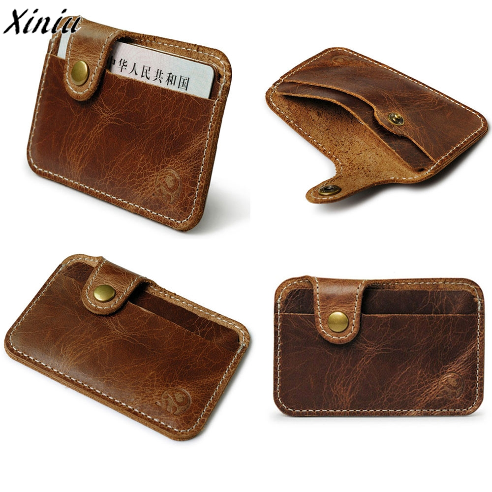 Fashion Money Slim Credit Card ID Holder Casual Purse ...