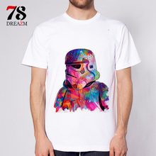 hot Summer Fashion star wars king T Shirt Men's High Quality Tops Tees Custom male t-shirt Printed clothing