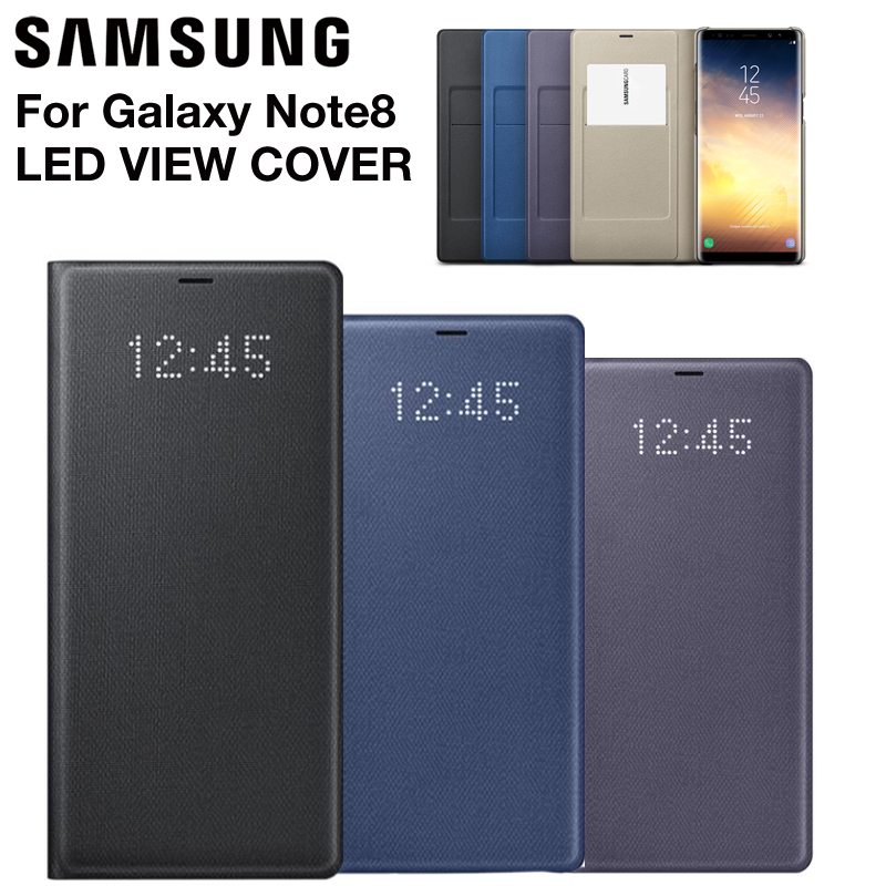 Samsung Original Samsung LED Smart Cover Phone Case View Cover For Samsung Galaxy Note 8 N9500 Note8 N950F Slim Flip Case