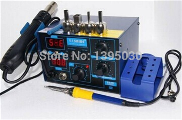 220V/ 110V Electric Soldering Iron Saike 952D Rework Station Hot Air Gun Soldering Station все цены