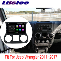 Liislee 2 din For Jeep Wrangler 2011~2017 Car Navigation GPS Android Video HD Touch Screen Stereo Multimedia Player No CD DVD
