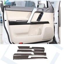 4 pcs Auto ABS Porta per Interni Decorazione Pannello di Rivestimento Per Toyota Land Cruiser Prado FJ150 150 2010-2018 Anno accessori di Legno del grano