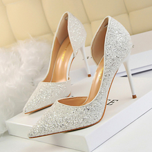 Купить с кэшбэком Fashion Women High Heels Shallow Stiletto Wedding/Party Lady Pumps Spring/Summer Sandals Classic Female Shoes Woman Footwear
