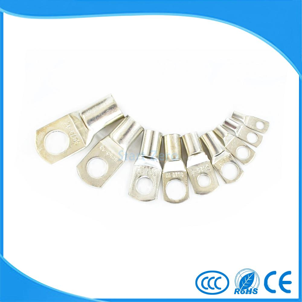 10/50/100pcs SC 35-10 Bolt Hole Tinned Copper Cable lugs Battery Terminals 35mm wire 50pcs lot sc 16 8 16mm2 8mm bolt hole tinned copper cable lugs battery terminals brand new