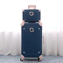 Стиль; Новинка; в стиле ретро; в чемодан из ПУ-кожи, комплект женской дорожная сумка в винтажном стиле чемодан модный чемодан на колесах для девочек высокое качество дорожного чемодана