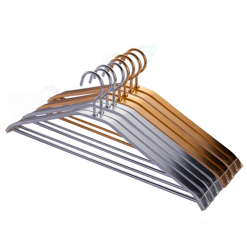 Golden Silver Strong Thick Aluminum Metal Hanger for Coats Suits with Trouser Bar 20 pieces Lot