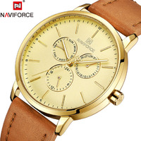 Top Luxury Brand NAVIFORCE The New Men Date Week Sport Mens Watches Military Army Business Genuine Leather Quartz Men Clock