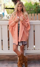 Long Sleeve Loose Plus Size Cardigan Multi Colors