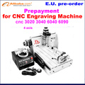Prepayment for CNC engraving machine, CNC router, 3020,3040,6040,6090 engraver machine  and others