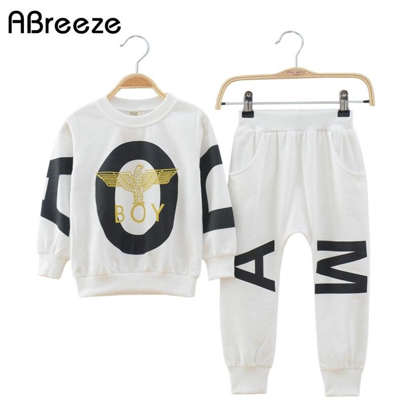 2018 New children boys clothing sets sports tracksuits clothes for boy autumn sets 2 pcs knitting long sweatshirt+ pant trunks