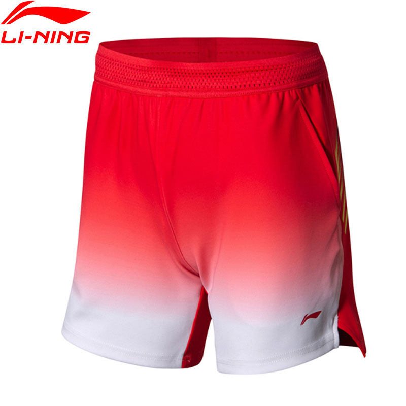 Li-Ning Women Badminton Competition Shorts Breathable 87%Polyester 13%Spandex National Team LiNing Sports Shorts AAPN006 WKD599 outdoor sports fitness polyester spandex tight shorts for men black xl