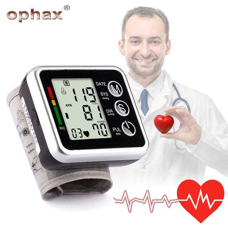 OPHAX Automatico Sfigmomanometro Misuratore Da Polso Digitale Polsino di Pressione Sanguigna Monitor Germania Circuito Integrato Monitor di Salute della Pressione Arteriosa