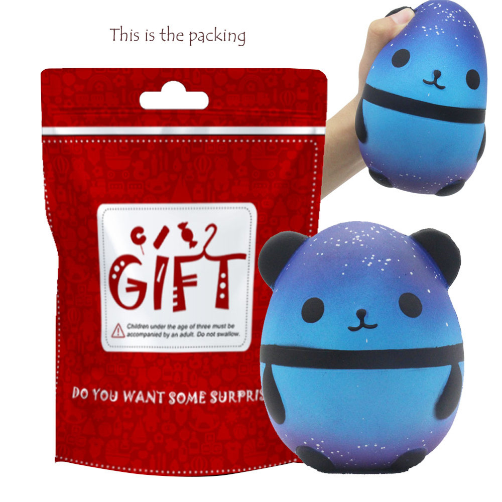 Collectibles Advertising Jumbo Squishy Kawaii Panda Bear Egg Candy Soft Slow Rising Stretchy Squeeze Kid Toys Relieve Stress Phone Straps Children Gifts Traveling