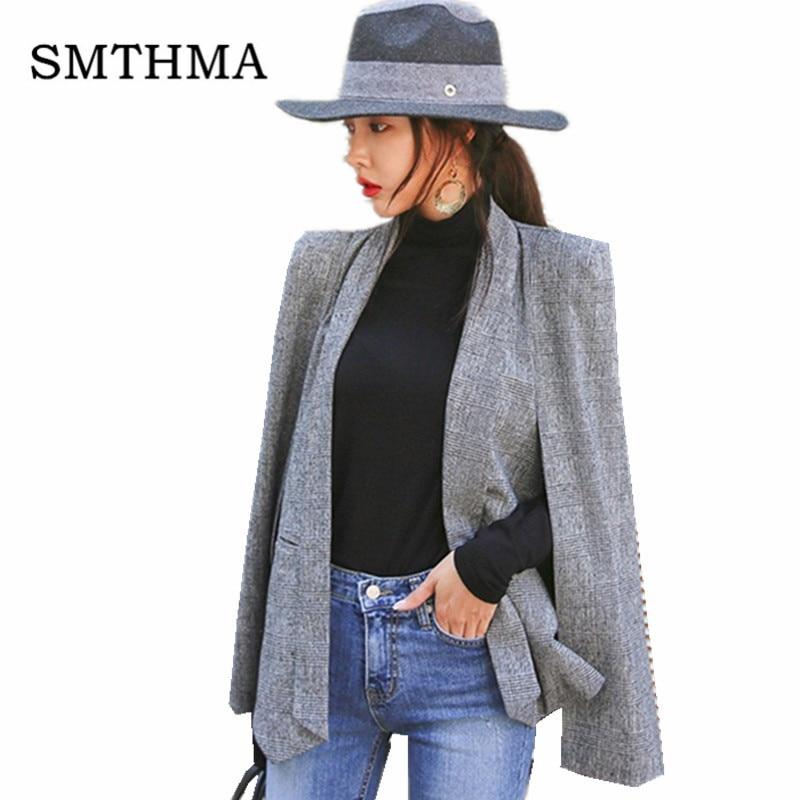 Frauen Kleidung & Zubehör FäHig Smthma Hohe QualitÄt Neue Mode 2019 Designer Runway Europa Stil Schal Mantel Anzug Jacke Blazer