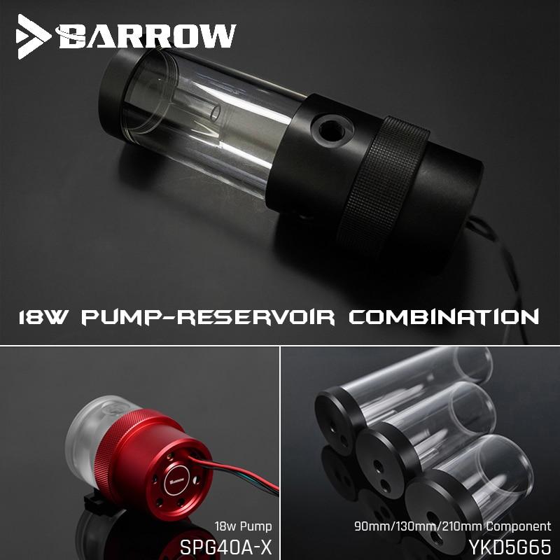 Barrow SPG40A-X, 18W PWM Combination Pumps, With Reservoirs, Pump-Reservoir Combination, 90/130/210mm Reservoir Component