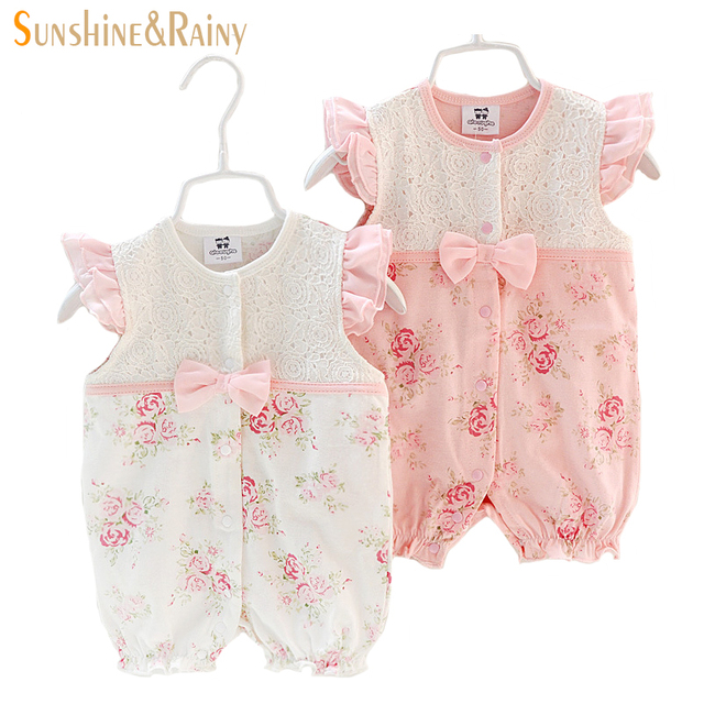 323adb40f5ce2 Summer Baby Clothes Baby Girls Rompers Infant Lace Embroidered Romper  Newborn Bebes Floral Jumpsuit Cotton Toddler Girl Clothing-in Rompers from  ...