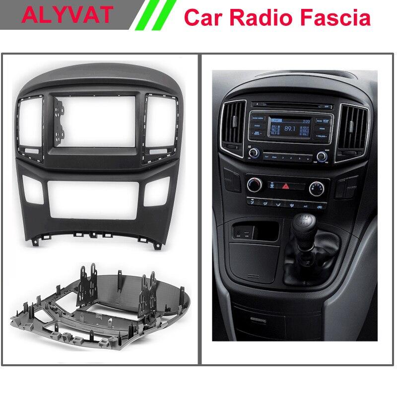 Double 2 Din Car Fascia for Hyundai Starex, H1 Radio GPS Stereo Panel Dash Mount Kit Face Plate Audio Frame Trim Bezel Facia