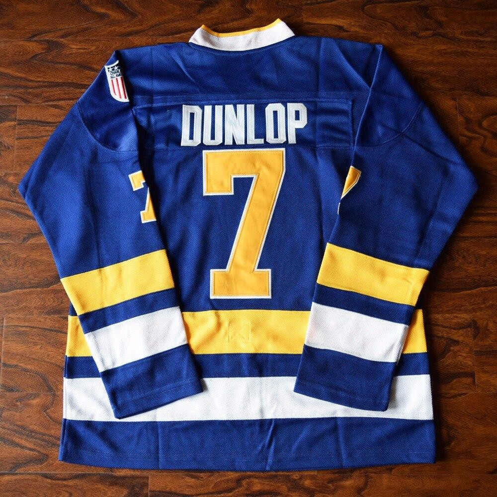 Мм masmig воротам Реджи Dunlop 7 Charlestown РУКОВОДСТВО Хоккей Джерси синий Размеры S M L XL XXL, XXXL