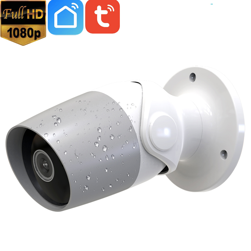 1080P Full HD 2MP Tuya 2 Way Audio Ao Ar Livre Sem Fio WiFi IP Câmera de Segurança Alexa Google Chromecast Apoio