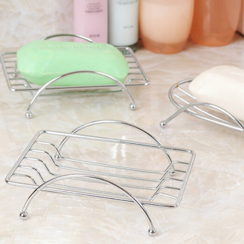 Stainless Steel Soap Holder Bathroom Soap Holder - Oval Stainless Steel Soap Dishes Soap Holder Case Brand Bathroom Accessories