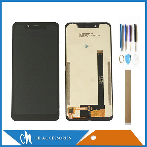 5.85 Inch For Homtom ZOJI Z33 LCD Display With Touch Screen Glass Digitizer Assembly Black Color With Tools Tape image