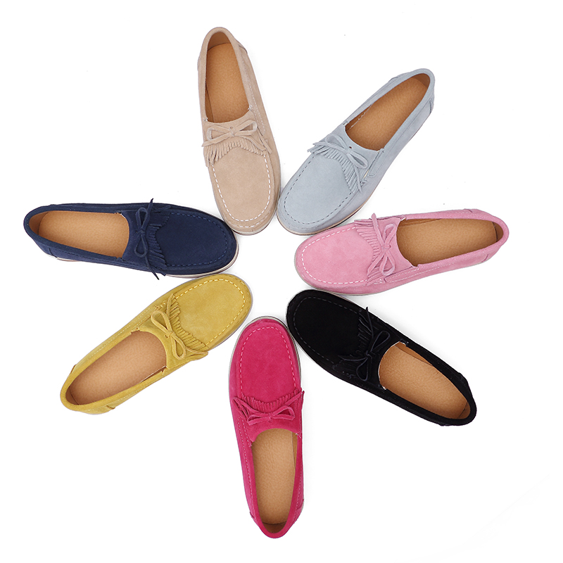 2018 Autumn Women Flats Shoes Platform Sneakers Shoes   Leather     Suede   Casual Shoes Slip on Flats Heels Creepers Moccasins