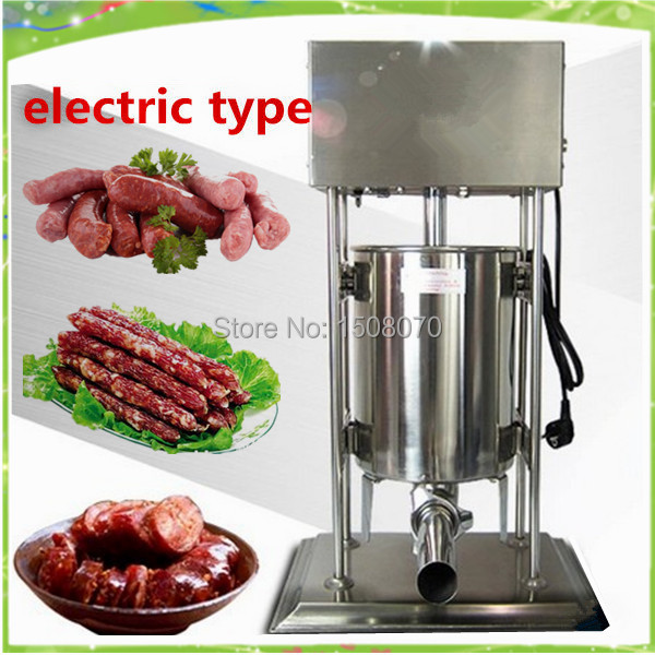 free shipping 15L vertical electric sausage stuffer automatic sausage stuffing machine sausage making machine