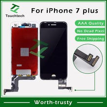 20 шт./лот AAA++ 5,5 дюймов для Apple iPhone 7 Plus ЖК-дисплей стекло в сборе с сенсорным экраном дигитайзер B/W замена DHL