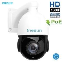 Inesun caméra de surveillance extérieure PTZ IP PoE hd hd 2MP/1080P, étanche, avec Zoom optique x30, détection de mouvement et Vision nocturne infrarouge 300ft
