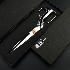 Image 5 - FENGZHU 12 นิ้วตัดกรรไกรสแตนเลสสตีลมืออาชีพตัดกรรไกรสแตนเลสการ์เม้นท์เสื้อผ้าตัดผ้า SHARP