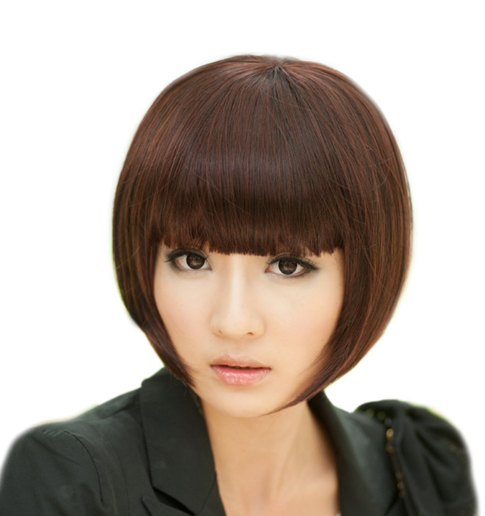 Oym Girl 39 S Fashion Bob Style Short Straight Fluffy Hair Design Party Hair Wigs On