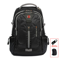 SWISSWIN Brand Men S Daily Backpack Laptop Sleeve Music Function Large Capacity Backpack For Business Travel