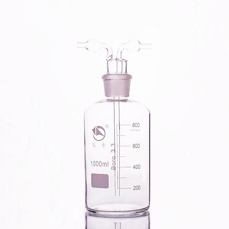 Декорированные газ стиральная бутылки, Ёмкость 1000 мл, лаборатории Стекло газ стиральная бутылки, кальяна, кальян