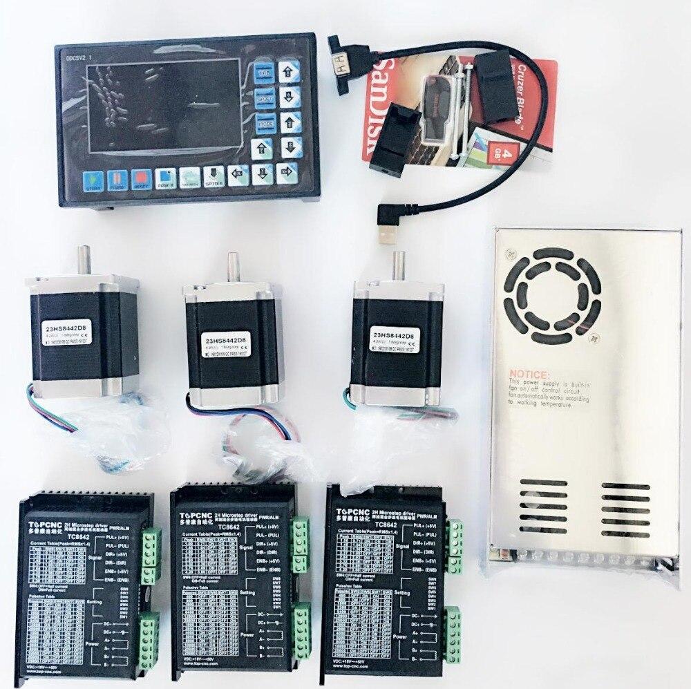 3 Axes CNC Contrôleur kits Hors Ligne Autonome Remplacer Mach3 USB CNC Routeur Gravure Forage Fraiseuse