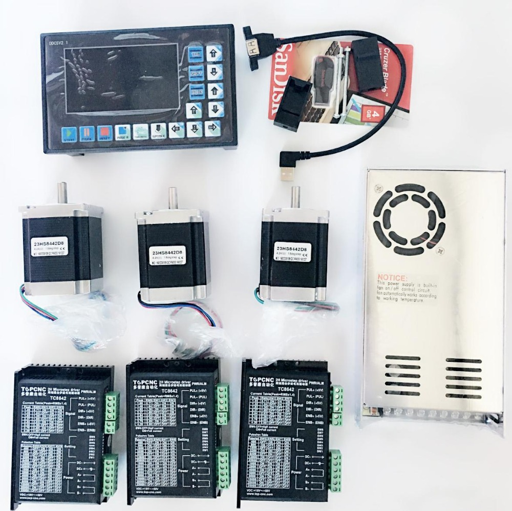 3 Axis CNC Controller kits Offline Stand Alone Replace Mach3 USB CNC Router Engraving Drilling Milling Machine 1 5kw 2 2kw cnc 6090 router engraving machine offline dsp controller system cnc milling machine linear guide rail trh20