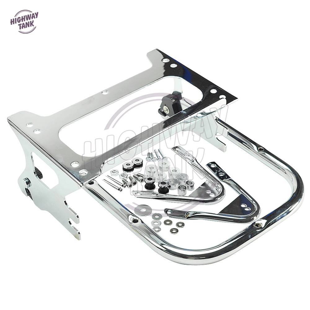 Chrome Motorcycle 2 UP Tour Pak Pack Luggage Rack Moto Rear decoration case for Harley Davidson FLHT FLHX FLTR 1997-2008 chrome motorcycle two up tour pak luggage rack rail case for harley touring flhr flht flhx fltr 2009 2017