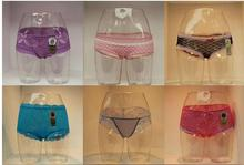 Woman plastic underwear forTransparent Female Hips Mannequin,Female Panty Modle,Underpants Manikin Best Value,M00645