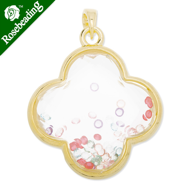 45x51mm locket pendantfour leaf clover shapewith colorful charms 45x51mm locket pendantfour leaf clover shapewith colorful charms insidewith pendant aloadofball Image collections