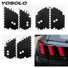 6pcs/set Car Taillight Sticker Car Styling Honeycomb Tail Light Decorative Stickers Decals Fit For Ford Mustang Car Accessories