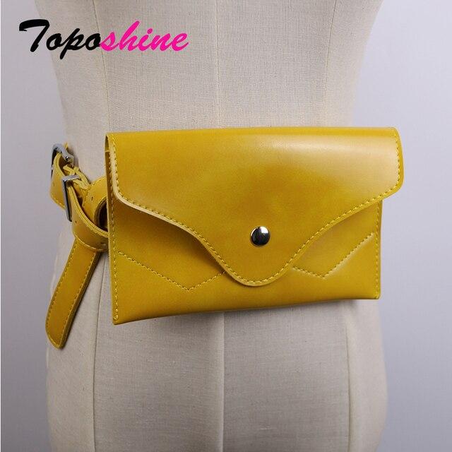 Toposhine Women Waist Bags Packs Fashion Simple Design Bags Classic Trendy Waist Bags Environmental Protection Materials Bags