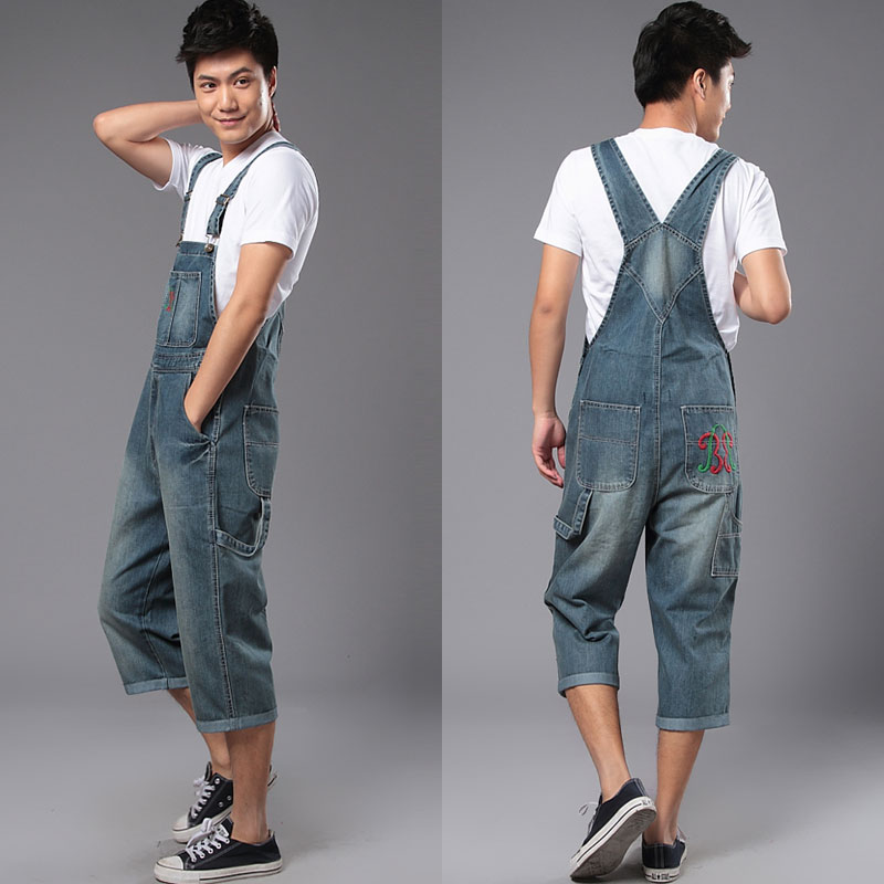 Aliexpress.com : Buy New Man Denim Dress Jeans Bib Pants Overalls ...